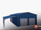 Metal Garage With Lean To 12′ X 12′ X 12′ Wooden Lean To Carports