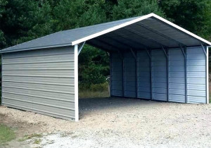 Metal Carports Side Entry Carport With Sides Canopy Patio Garage Shelter Picture C Steel Vinyl Covers Met Ste