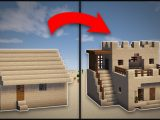 Minecraft: How To Remodel A Desert Village Large House ..