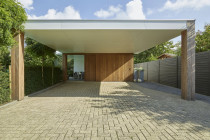 Moderne Carport En Poolhouse | Bogarden Modern Carport With Storage