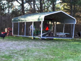 Moving A Carport 9 YouTube How To Move A Portable Carport