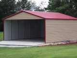 MSC Penick Farms Metal Carports With Garage Door
