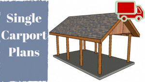 One Car Carport Plans Rustic Wooden Carports