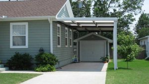 Outdoor , Simple Yet Highly Modern Car Port Ideas Attached ..