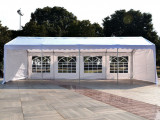 Outsunny 12'x12' Heavy Duty Outdoor Carport Wedding Party Event Tent Patio Gazebo Canopy With 12 Sidewalls, White Carport Tent Party