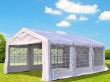 Outsunny 13x13ft Heavy Duty Outdoor Carport Wedding Party Tent Patio Event Gazebo Canopy With Sidewalls White Carport Tent Roof