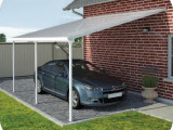 Palram 13×20 Feria Attached Metal Carport Kit [HG9140 ..