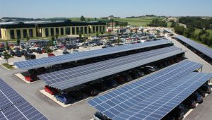 Photo Of The Week: Solar Panel Parking | | The Shift Carport Parking Lots