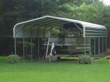 Pontoon Boat Cover Custom Metal Boat Cover For A Pontoon Camper Carport Ideas