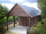 Prefabricated Timber Garage Building Manufacturer In UK 🏠 Small Wooden Carports