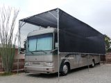 "RV Canopy With Black Mesh Tarp And 1 7/8"" Canopy Fittings .."