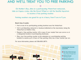 Seattle Mother's Day: Score FREE Parking At Waterfront Garages Carports Parking Hours