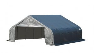 ShelterLogic 18 Ft. X 20 Ft. X 10 Ft. Grey Steel And ..
