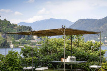 Solaire Flat Roof Freestanding Pergola By Unopiu Curved Roof Carport Uk