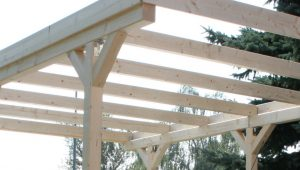 Wall Mounting Solid Wood Carport Flat Roof KVH 3000x5000mm ..