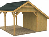Wood Carports With Storage | Sc25vis Nr2b | Bunk House ..