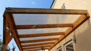 Wooden Canopy On A Residential Home Wooden Carport Canopy