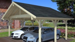Wooden Carport Robert 100.100100m X 100
